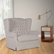 Chesterfield Cream Buttoned Love Seat