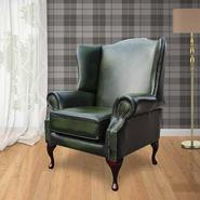 Richmond Chesterfield Armchair UK Manufactured Antique Green