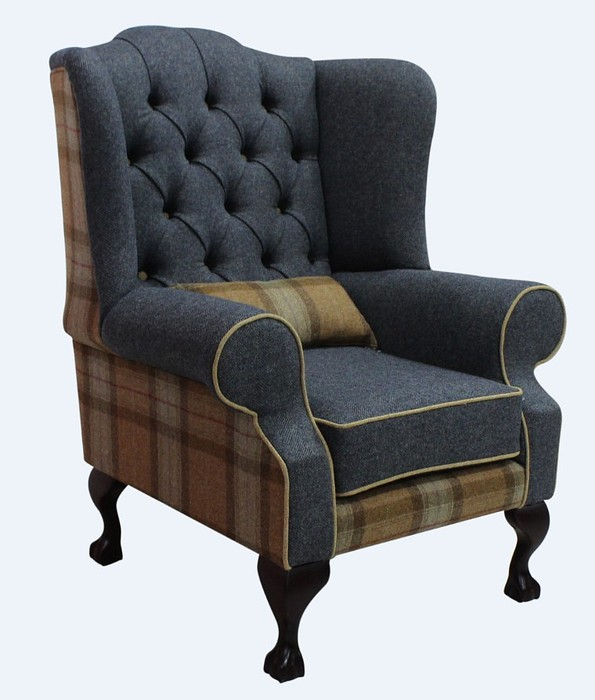 Chesterfield Frederick Wool Wing Chair Fireside High Back ...