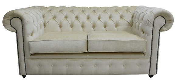 Chesterfield 2 Seater Settee Perla Mellow Velvet Sofa Offer