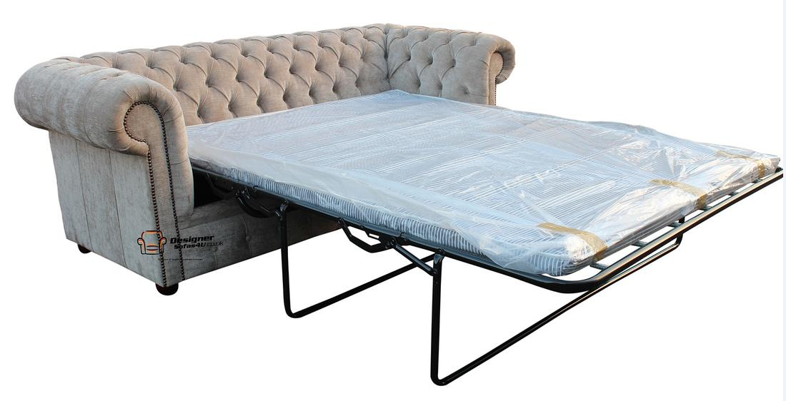 Chesterfield 3 Seater Sofabed Ritz Mink