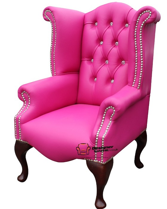 Chesterfield Baby Princess Crystal Queen Anne High Back Wing Chair ...