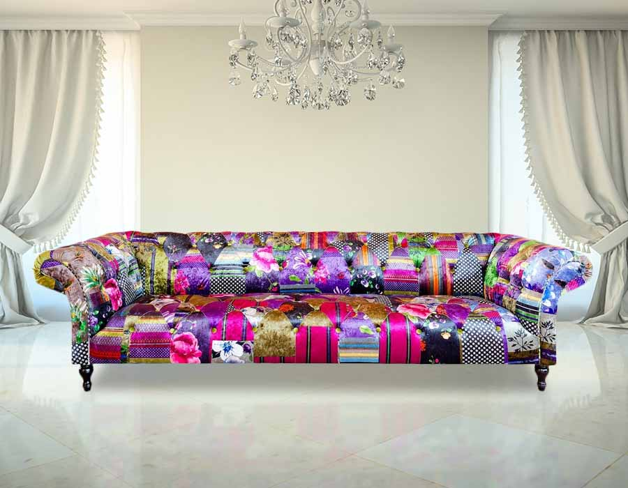 Patchwork chesterfield sofa uk 6 month old chesterfield for Sofa patchwork