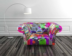Chesterfield Patchwork Armchair
