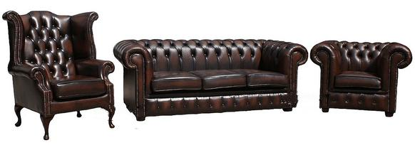 Chesterfield Leather Suite Offer