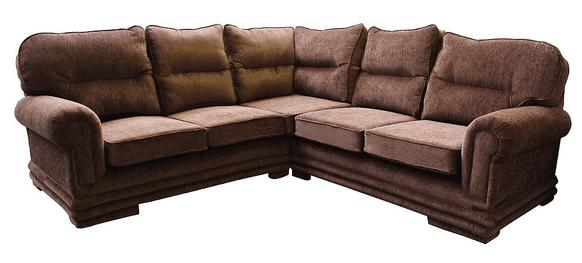 Maria Fabric Corner Sofa Unit 2 Seater + Corner + 2 Seater Brown