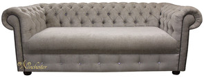Chesterfield 1780's Swarovski CRYSTALLIZED™ Diamond 3 Seater Presto Mink Sofa Offer